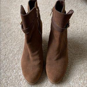 Ralph Lauren brown suede boots in great condition
